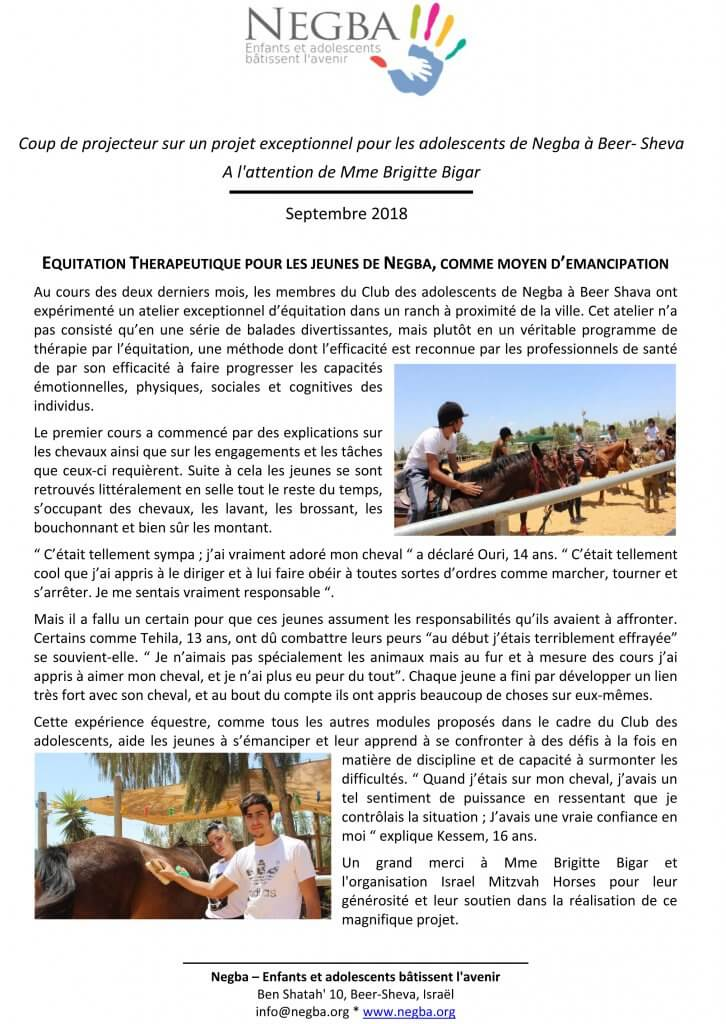 Thank you letter from NEGBA Sept.2018